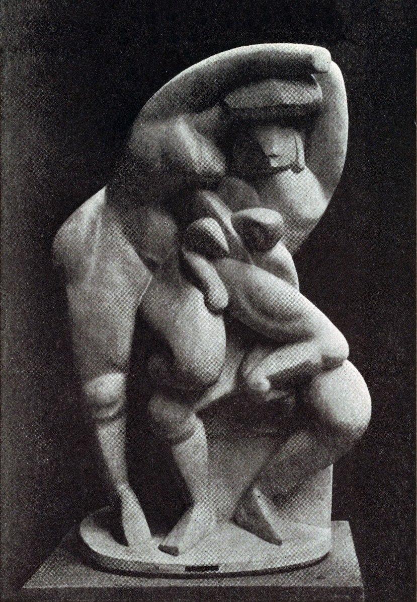 Alexander Archipenko, La Vie Familiale, Family Life, 1912.jpg