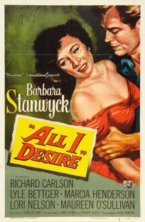All I Desire - Film poster by Reynold Brown