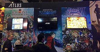 Atlus - Atlus USA booth at Electronic Entertainment Expo 2017