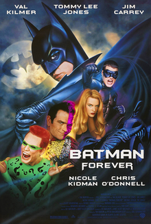 Theatrical release poster featuring Batman and various characters from the film.