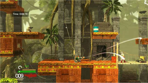 Bionic Commando Rearmed 2 - Bionic Commando Rearmed 2 features an upgrade system which allows protagonist Nathan Spencer to equip both passive and combative features to his bionic arm.