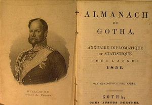 Almanach de Gotha - The Almanach de Gotha  1851