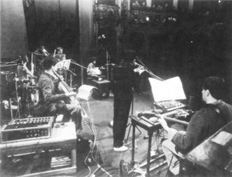 Duck and Cover (German band) - Duck and Cover performing at the Berliner Ensemble in East Berlin on 16 February 1984.