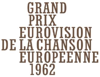 Eurovision Song Contest 1962 - Image: ESC 1962 logo