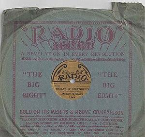 Edison Bell - Edison Bell Radio record in original paper sleeve