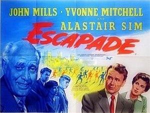 Escapade (1955 film) - Original British quad poster
