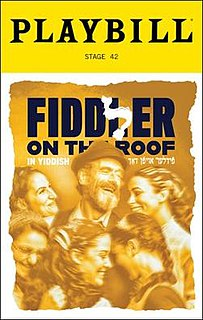 "Yiddish translation of the musical ""Fiddler on the Roof"""