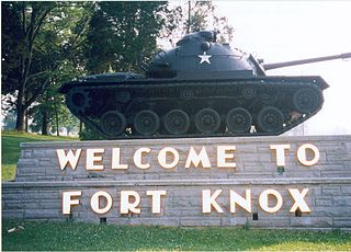 Fort Knox US Army post in Kentucky, United States