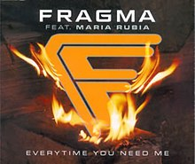 Fragma featuring Maria Rubia — Everytime You Need Me (studio acapella)