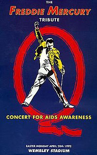 The Freddie Mercury Tribute Concert 1992 video album directed by Charlotte Brasso