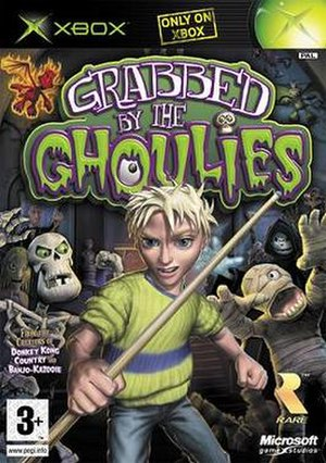 Grabbed by the Ghoulies - European cover art