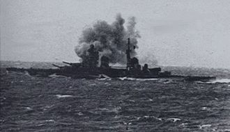 Second Battle of Sirte - Image: Gorizia firing on RN destroyers