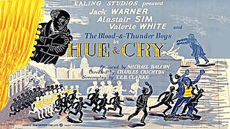 Hue and Cry (film) - Original UK quad format film poster