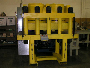 Hydraulic drive system - Hydraulic Press in a machine shop. This press is commonly used for hydroforming.
