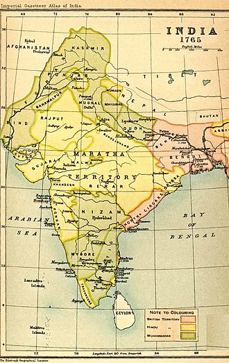 Timeline of major famines in India during British rule - Oudh, the Doab (land between the Ganges and Jumna rivers), Rohilkhand, the Delhi territories, eastern Punjab, Rajputana and Kashmir, were affected by the Chalisa famine.