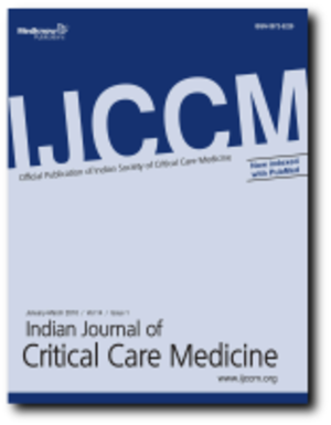 Indian Journal of Critical Care Medicine - Image: Indian Journal of Critical Care Medicine