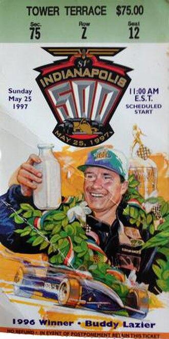 1997 Indianapolis 500 - 1997 Indianapolis 500 ticket.