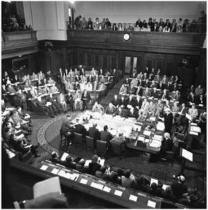Joint Sitting of the Australian Parliament of 1974 - All 187 federal MPs at the 1974 joint sitting