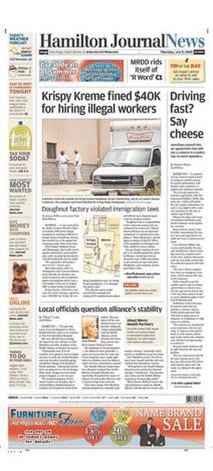 Hamilton JournalNews - Image: Journal News front cover