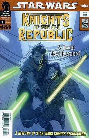 "Star Wars: Knights of the Old Republic (series) - The first issue of the ""Star Wars: Knights of the Old Republic"" comic book series."