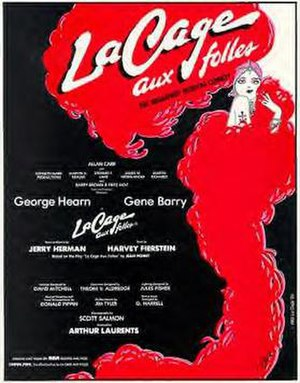 La Cage aux Folles (musical) - Original Broadway windowcard