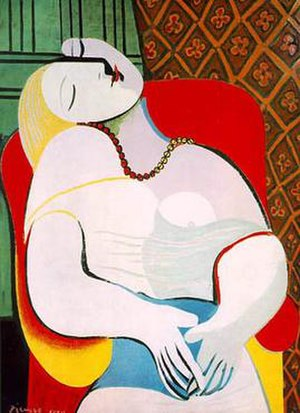 "Marie-Thérèse Walter - Marie-Thérèse is the model for Picasso's Le Rêve (""The Dream""), 1932."