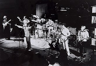 Little River Band - Little River Band performing in 1977 (left to right): David Briggs, George McArdle, Glenn Shorrock, Derek Pellicci, Beeb Birtles and Graeham Goble