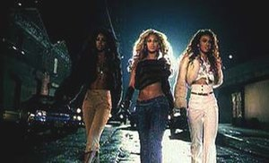 "Lose My Breath - Kelly, Beyoncé and Michelle in the music video for ""Lose My Breath"" (2004)."