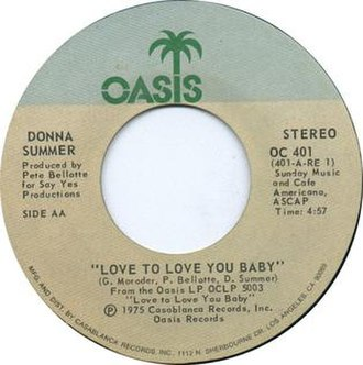 Love to Love You Baby (song) - Image: Love to Love You Baby by Donna Summer 1975 US vinyl A side