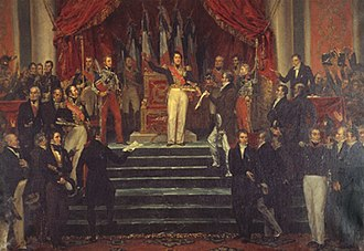 "François Guizot - François Guizot accepts the charter from Louis-Philippe, the ""Citizen-King""."