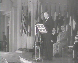 Henry Morgenthau Jr. - Morgenthau addressing delegates on the opening day of the Bretton Woods Conference.