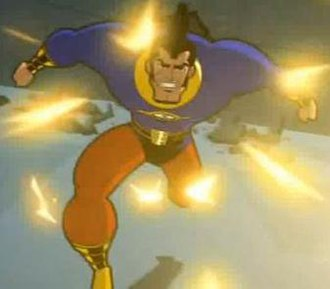 """OMAC (Buddy Blank) - OMAC from Batman: Brave and the Bold episode """"When OMAC Attacks."""""""