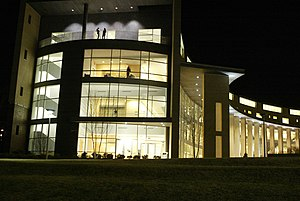 Franklin W. Olin College of Engineering - The Academic Center at night