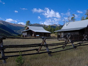 View from the trail of the Koenig Homestead at...