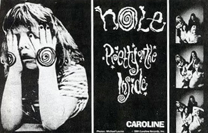 Pretty on the Inside - Caroline Records press kit cutout promoting the album (1991).