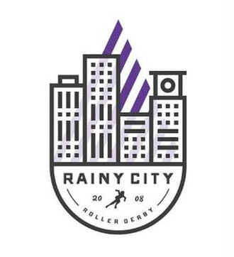 Rainy City Roller Derby - Image: Rainy City Roller Derby logo
