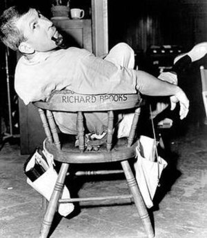 Richard Brooks - Richard Brooks on set at MGM studios, 1950's