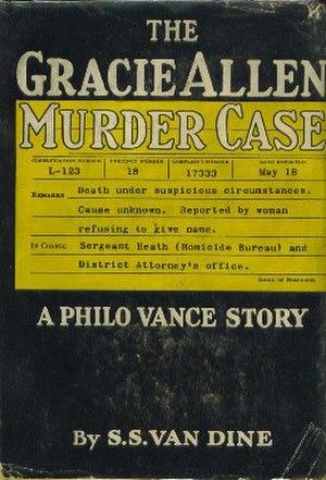 The Gracie Allen Murder Case - First edition