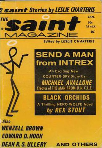 "The Saint (Simon Templar) - One of the final issues of The Saint Magazine from 1967 featured reprints of the Saint stories ""The Export Trade"" and ""The Five Thousand Pound Kiss""."