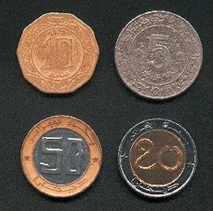 Algerian dinar - Image: Scan of 4 Algerian coins