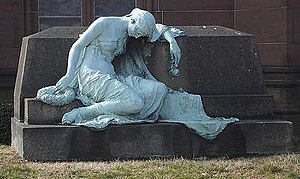 Green Mount Cemetery - Riggs Monument by Hans Schuler.