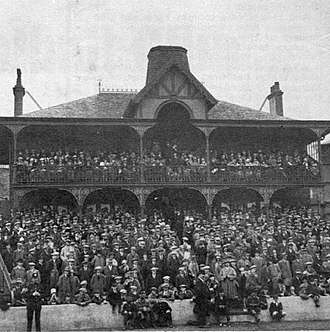 Ibrox Stadium - The pavilion of the second Ibrox Park. Built 1899, demolished 1928.