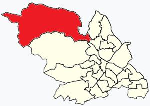 Stocksbridge and Upper Don - Image: Sheffield wards Stocksbridge and Upper Don