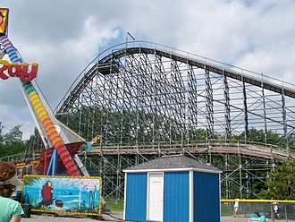 Silver Comet (roller coaster) - First hill on the roller coaster