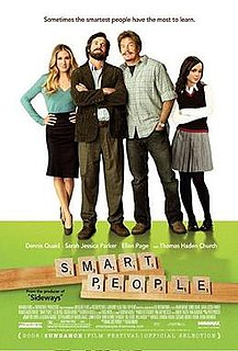 <i>Smart People</i> 2008 film by Noam Murro