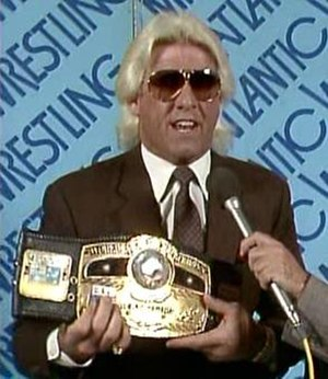 Starrcade (1985) - Ric Flair, the NWA World Heavyweight Champion in 1985.
