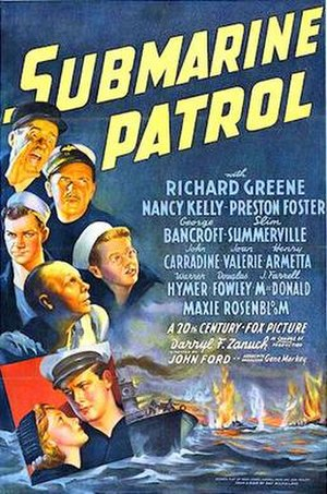 Submarine Patrol - 1938 Theatrical Poster