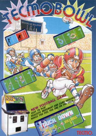Tecmo Bowl - European arcade flyer of Tecmo Bowl
