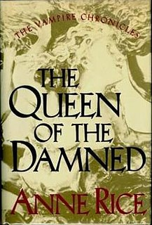 <i>The Queen of the Damned</i> 1988 novel by Anne Rice