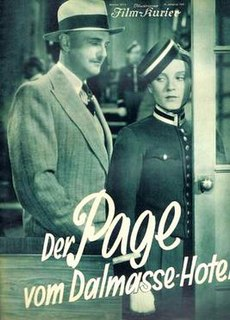 <i>The Page from the Dalmasse Hotel</i> (1933 film) 1933 film by Victor Janson